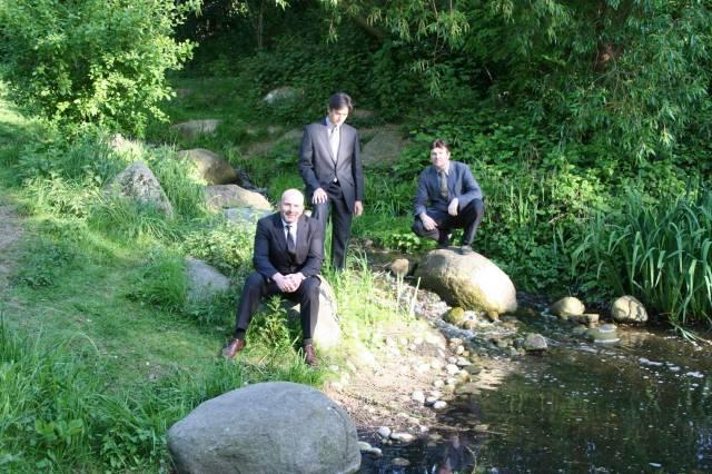 Avalon Trio by the stream